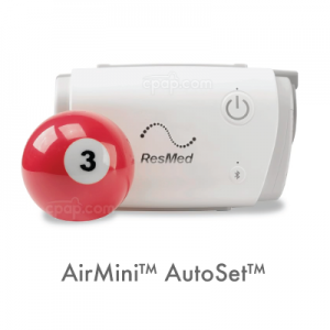 Showing the AirMini Travel CPAP Machine
