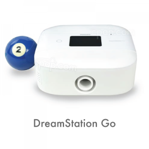 Showing an image of the DreamStation Go Travel CPAP Machine