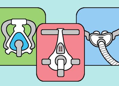 CPAP masks: full face, nasal pillow, nasal