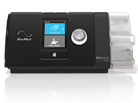 The ResMed AirSense 10 CPAP Machine Front Panel