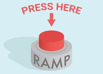 Showing a button meant to represent the ramp function.