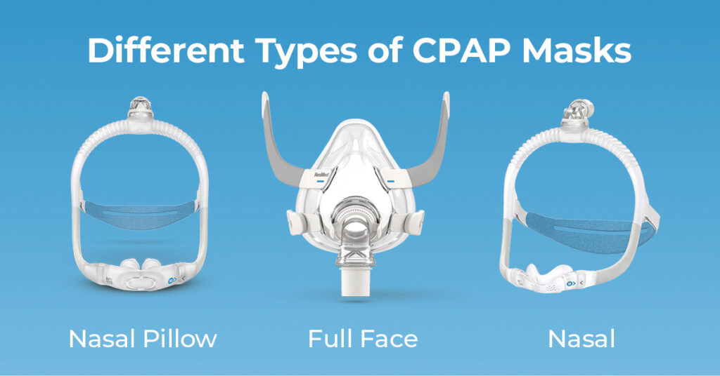 The Three Most Common CPAP Mask Types with Photos
